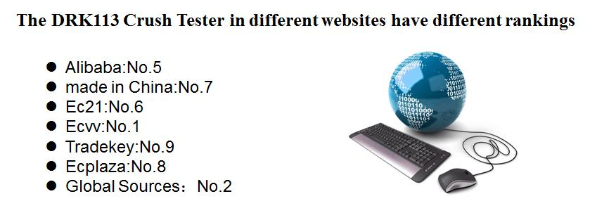 The DRK113 Crush Tester in different websites have different rankings